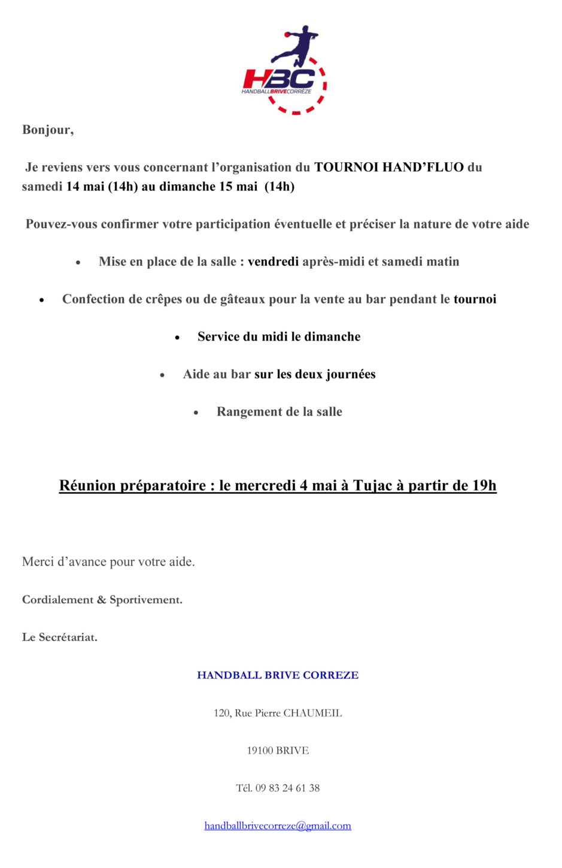 Aide Tournoi HAND'FLUO